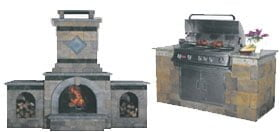 Outdoor Kitchen, Fireplace, Pizza Oven, Outdoor Grill