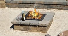 Fire Pit using Sand as Base