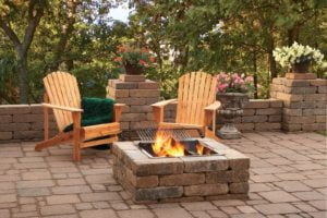 Rumbled Wall Fire Pit