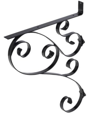 135 Iron Mailbox Bracket – Black
