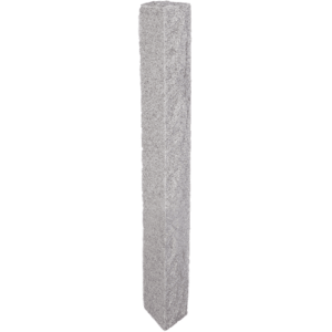 Granite Mailbox Post – Gray (2 Thermal / 2 Rock Sides)