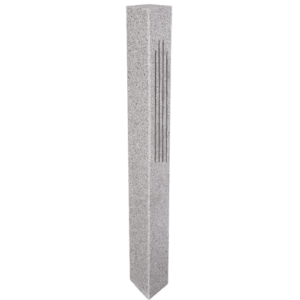 Granite Mailbox Post – Gray (2 Fluted / 2 Thermal Sides)