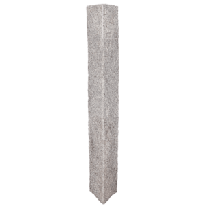 Granite Lantern Post – Gray (4 Rock Sides)