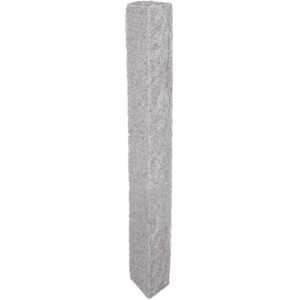 Granite Lantern Post – Gray (2 Thermal / 2 Rock Sides)