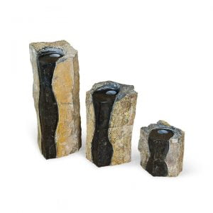 Double Textured Basalt Columns