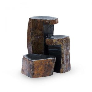 Keyed Basalt Columns Set of 3